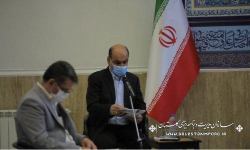 رئیس سازمان مدیریت و برنامه ریزی استان گلستان در جلسه شورای فرهنگ عمومی استان
