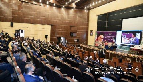 رئیس سازمان مدیریت و برنامه ریزی استان گلستان در مراسم رونمایی از ۵جلد کتاب انقلاب اسلامی با حضور وزیر اطلاعات