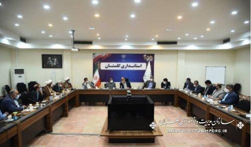 رئیس سازمان مدیریت و برنامه ریزی استان گلستان در جلسه بررسی مشکلات اراضی سد وشمگیر