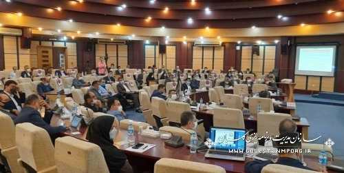 رئیس سازمان مدیریت و برنامه ریزی استان گلستان در جلسه شورای اداری استان