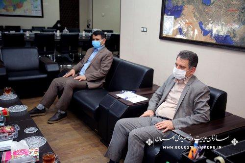 جلسه رئیس سازمان مدیریت و برنامه ریزی استان گلستان با مدیرکل ثبت اسناد و املاک استان