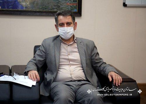 جلسه  رئیس سازمان مدیریت و برنامه ریزی استان گلستان با مدیرکل ثبت احوال استان
