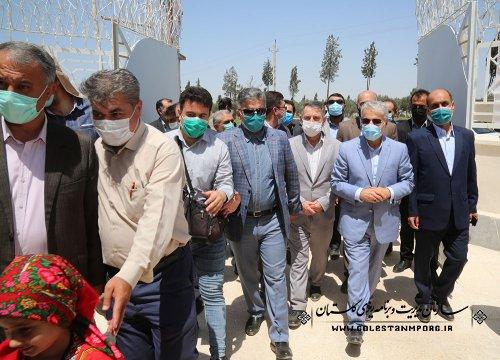 افتتاح ساختمان پزشکی قانونی گنبدکاووس با حضور دکتر نوبخت معاون رئیس جمهور