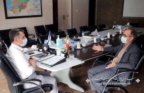 جلسه رئیس سازمان مدیریت و برنامه ریزی استان گلستان با فرماندار مینودشت