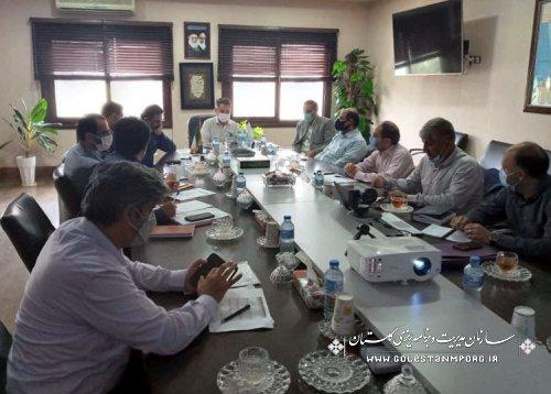 رئیس سازمان مدیریت و برنامه ریزی استان گلستان در جلسه بررسی آخرین وضعیت طرح های آبرسانی به شهرها و روستاهای استان گلستان