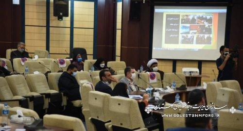 رئیس سازمان مدیریت و برنامه ریزی استان گلستان درجلسه ستاد بازآفرینی شهری استان