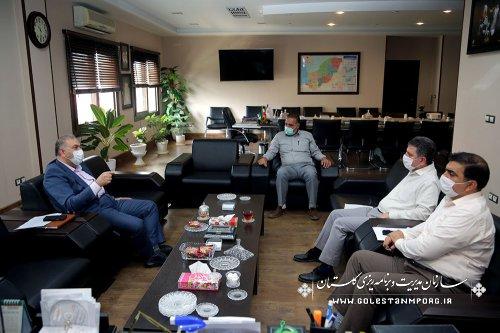 جلسه رئیس سازمان مدیریت و برنامه ریزی استان گلستان با مدیرکل استاندارد استان