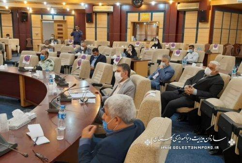 رئیس سازمان مدیریت و برنامه ریزی استان گلستان در دومین جلسه شورای حفاظت از منابع آب استان