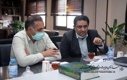 جلسه رئیس سازمان مدیریت و برنامه ریزی استان گلستان با مدیرکل شیلات استان