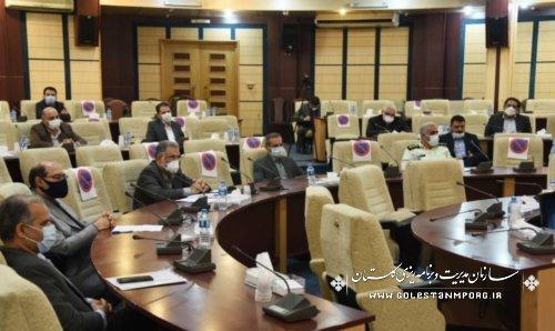 سازمان مدیریت و برنامه ریزی استان گلستان در جلسه شورای پدافند غیرعامل استان
