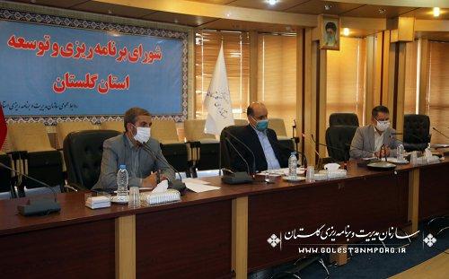 رئیس سازمان مدیریت و برنامه ریزی استان گلستان در جلسه شورای برنامه ریزی و توسعه استان