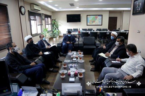 جلسه رئیس سازمان مدیریت و برنامه ریزی استان گلستان با معاون توسعه سازمان تبلیغات اسلامی کشور
