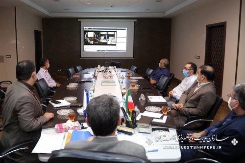 رئیس سازمان مدیریت و برنامه ریزی استان گلستان در نهمين جلسه ستاد تهيه و تدوين لايحه بودجه سال ۱۴۰۱ كل كشور