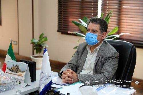 حضور رئیس سازمان مدیریت و برنامه ریزی استان گلستان در جلسه کارگروه برنامه و بودجه استانها 1401