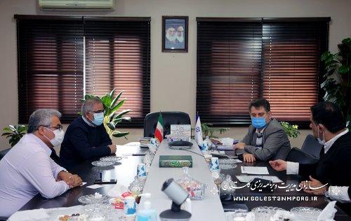 جلسه رئیس سازمان مدیریت و برنامه ریزی استان گلستان با نماینده مردم کردکوی،بندرترکمن،بندرگز و گمیشان
